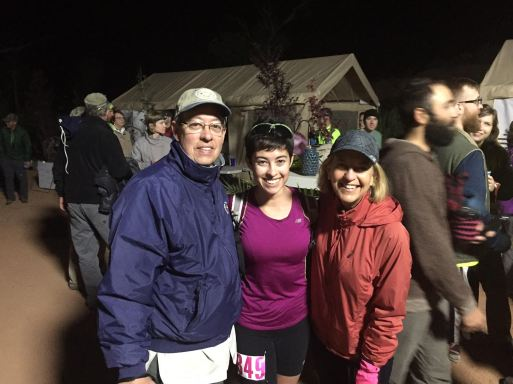 Parents and I at the start line